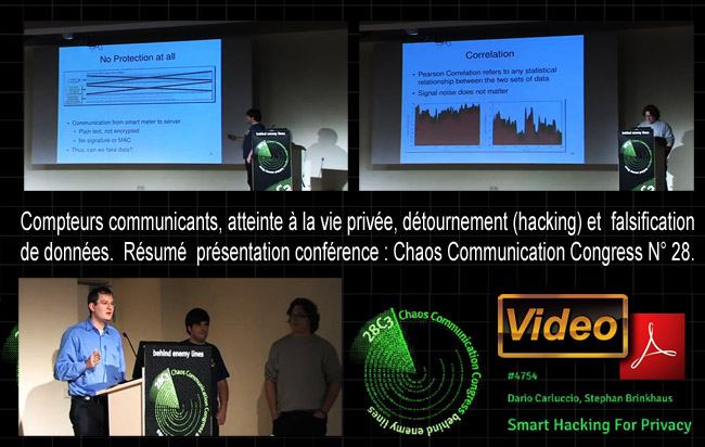 Carluccio_Brinkhaus_Conference_Chaos_Communication_Congress_nr_28_Compteurs_communicants_atteinte_vie_privee_detournement_hacking_falsification_de_donnees_news