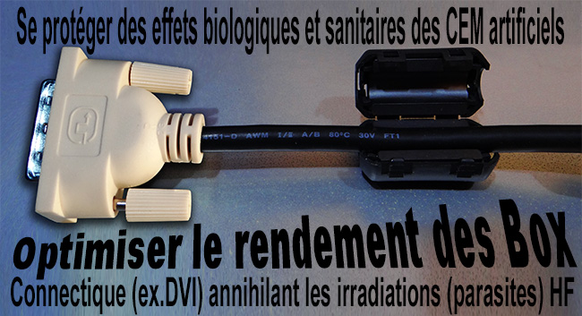 Connectique_DVI_Protection_HF_Tores_Ferrite_a_clipser_ouvert_flyer_News