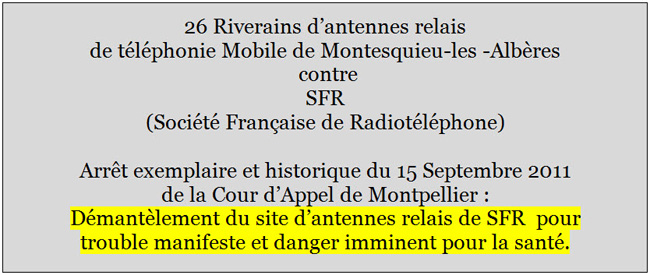 Cour_Appel_Montpellier_Arret_du_15_septembre_2011_Riverains_Antennes_relais_Montesquieu_Contre_SFR_Demantelement_News_20_09_2011