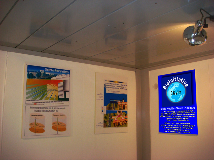 EHS_Refuge_Zone_Faraday_cage_view_posters_BioInitiative_meeting_room