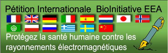 Soutenir les résolutions du consortium scientifique BioInitiative qui permettront à plus ou moins long terme de faire baisser votre exposition aux rayonnements électromagnétiques.