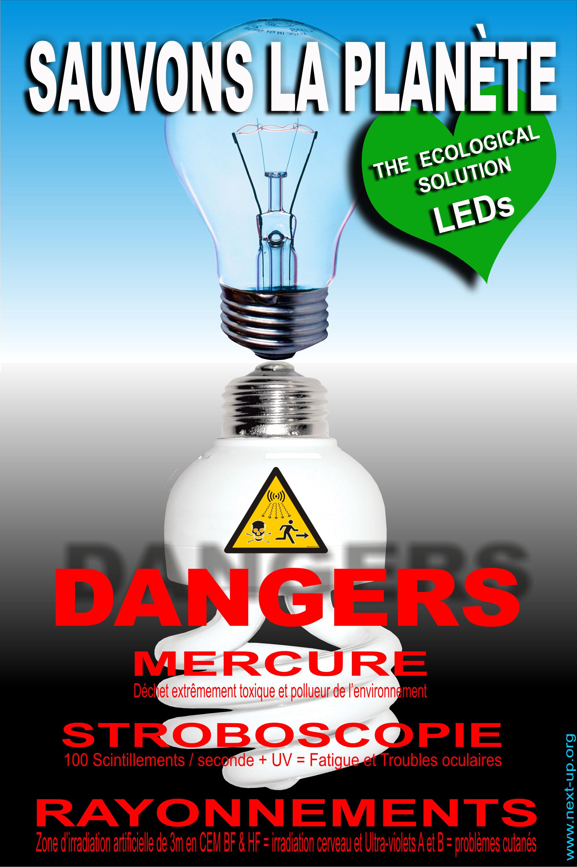 Lampe fluo compacte lampe basse consommation led - Les lampes led sont elles dangereuses pour la sante ...