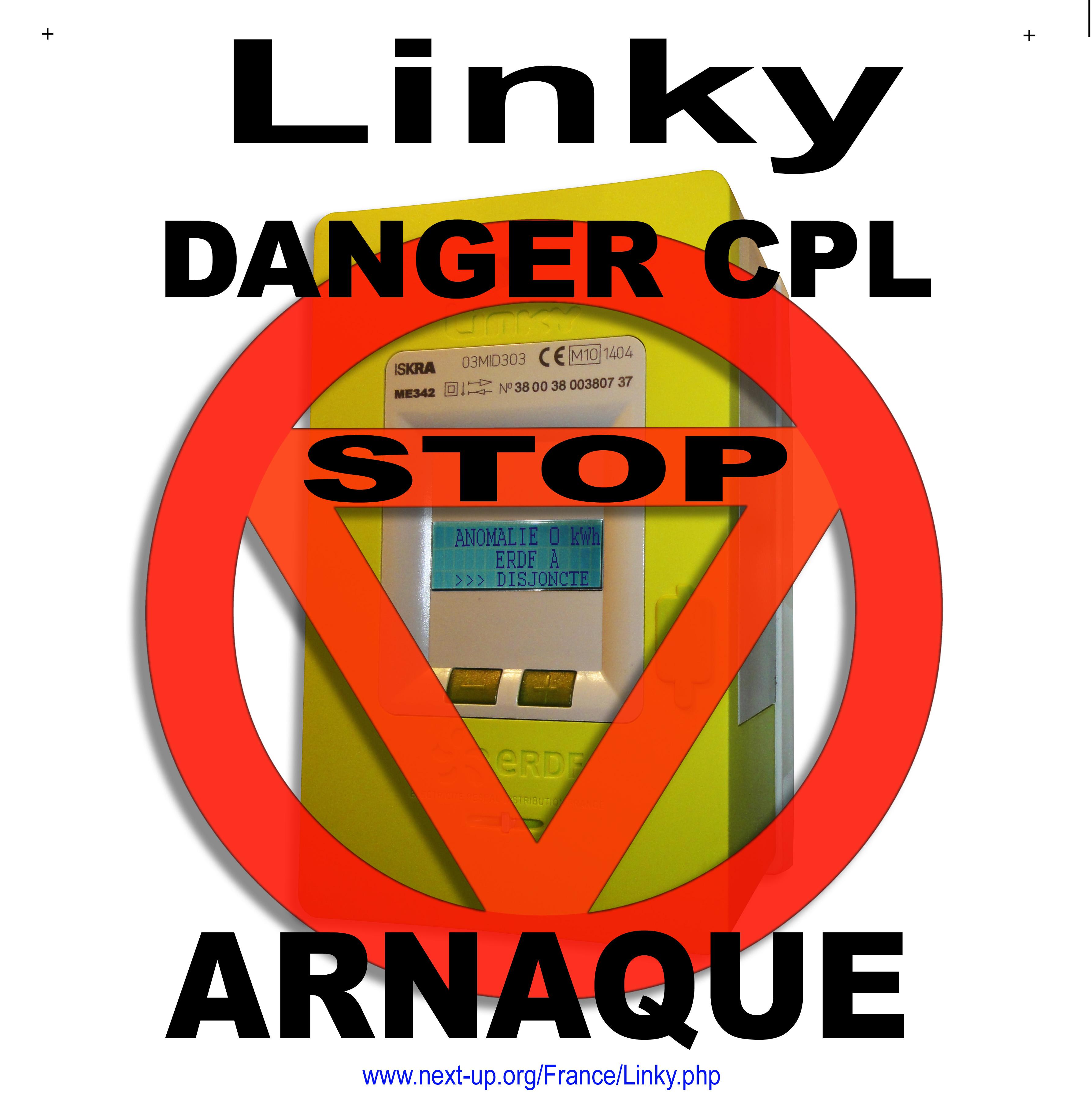 Préférence Autocollants Refus Linky ERDF Autocollants Posters Flyers Banderoles PP42