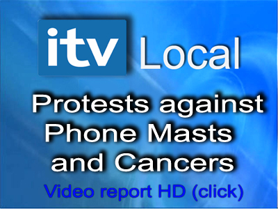 itv local protest phone masts and cancers video report